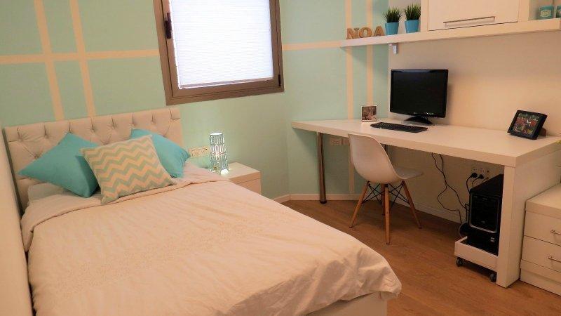 חדר ילדים בצבע לבן