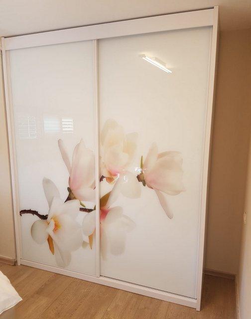 ארון דלתות הדפסה על זכוכית